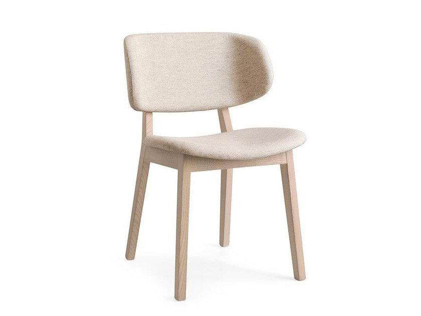 Upholstered fabric chair CLAIRE by Calligaris