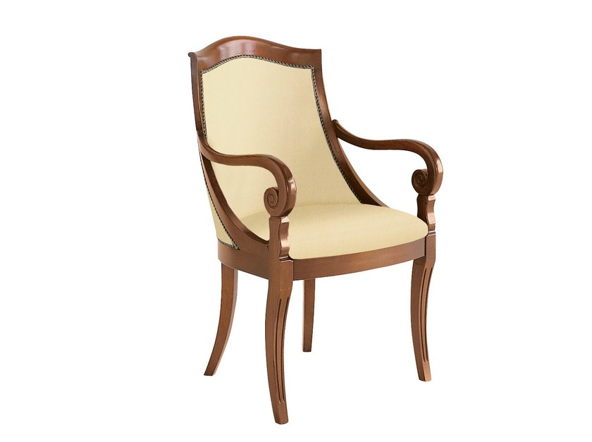 Upholstered easy chair with armrests CLARA by SELVA