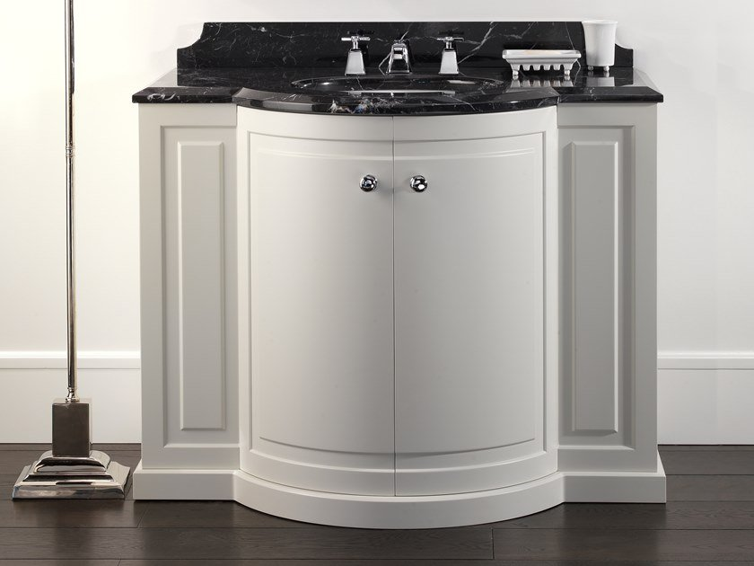 Lacquered vanity unit with doors CLARENCE by Devon&Devon