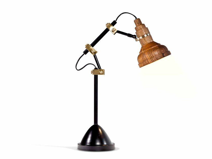 Adjustable walnut desk lamp CLARIFY by KONTRA