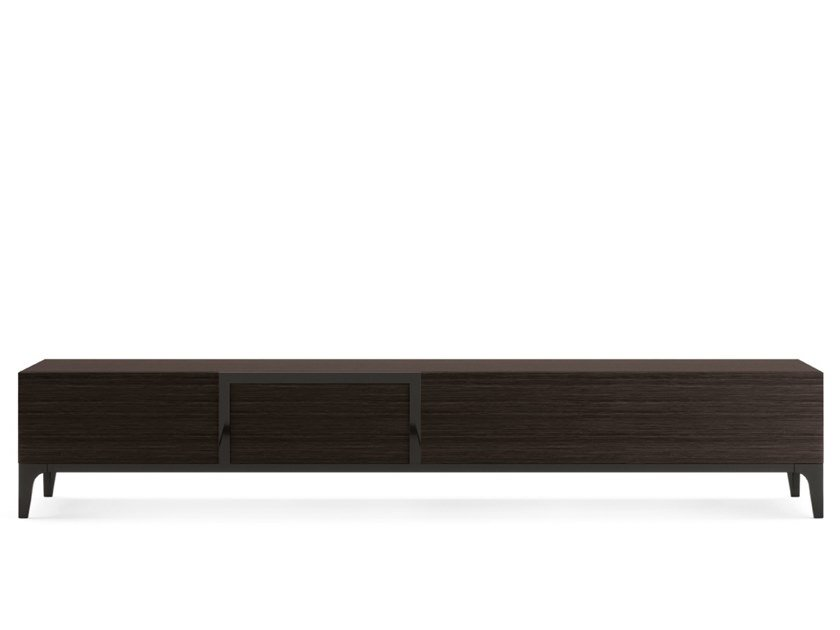Contemporary style low wooden TV cabinet CLARINDA by PRADDY