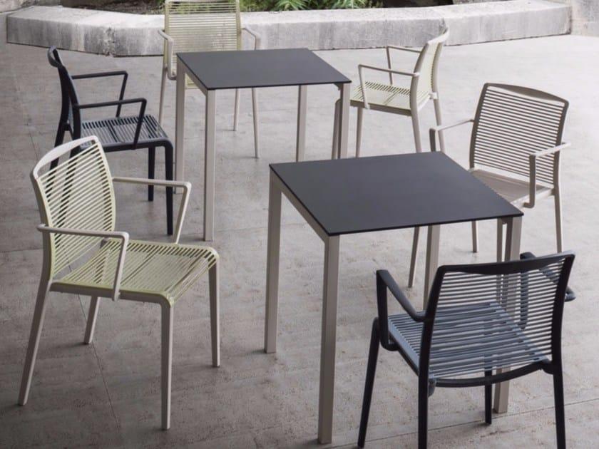 Tavolo da giardino quadrato in Compactop® CLARO by GABER