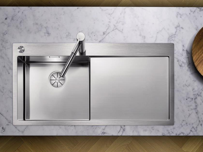 Lavello a una vasca da incasso in acciaio inox in stile moderno con sgocciolatoio BLANCO CLARON 5 S-IF by Blanco