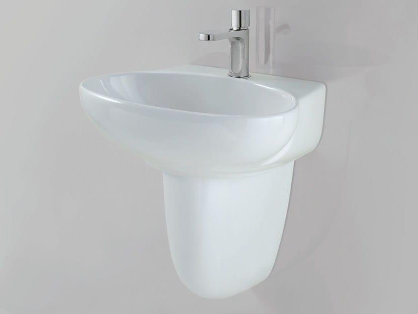 Pedestal ceramic washbasin CLAS+ | Pedestal washbasin by AZZURRA sanitari