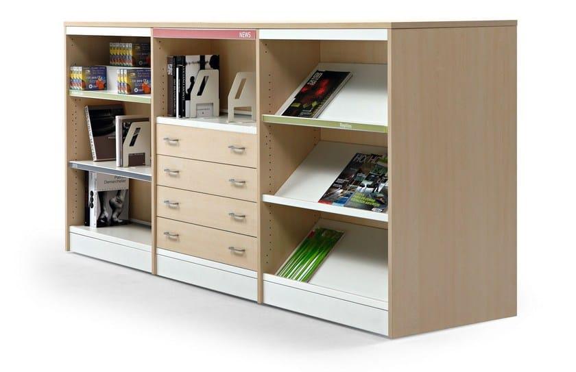 Libreria ufficio modulare in alluminio e legno class by actiu