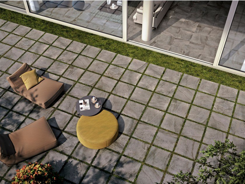 Indoor/outdoor porcelain stoneware flooring with stone effect CLASS by Ceramica Rondine