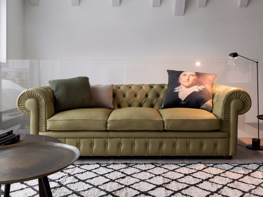 Chesterfield style leather sofa CLASS | Chesterfield style sofa by Dall'Agnese