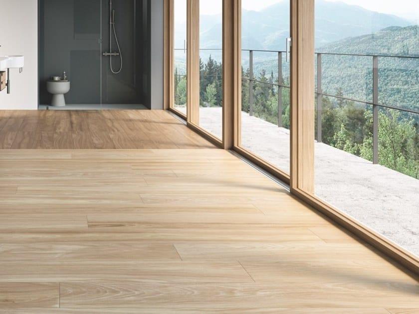 Pavimento in gres porcellanato effetto legno CLASS WOOD by Casalgrande Padana