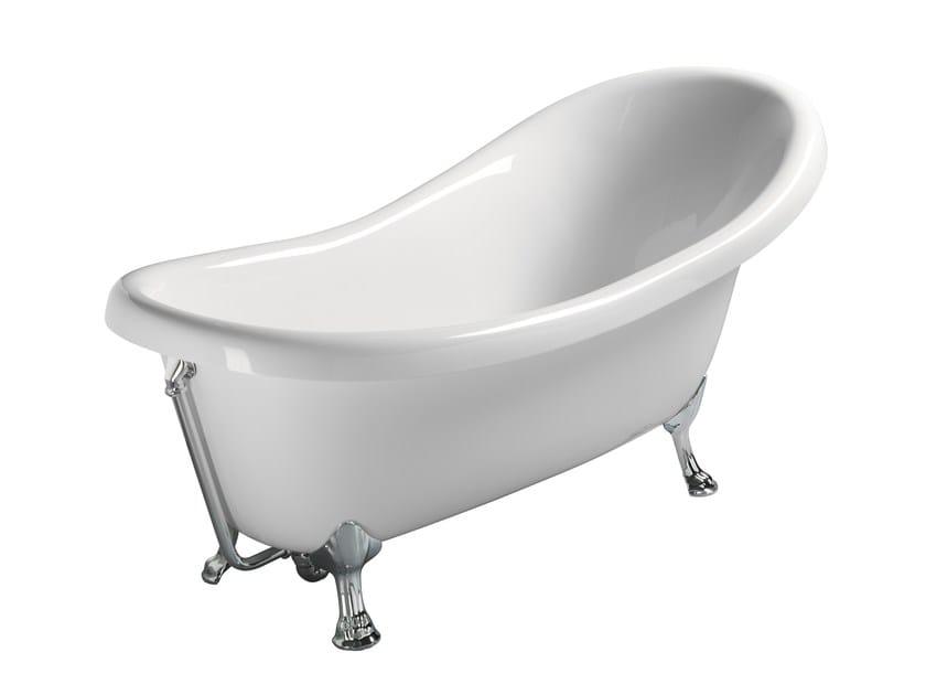 Vasca da bagno asimmetrica classic 175 vasca da bagno gsi ceramica - Vasca da bagno ceramica ...
