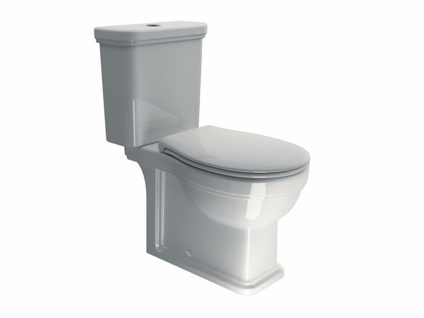 Close coupled ceramic toilet CLASSIC 70 | Close coupled toilet by GSI ceramica