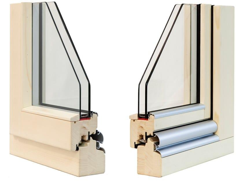 Finestra in legno con doppio vetro CLASSIC 72 by Alpilegno