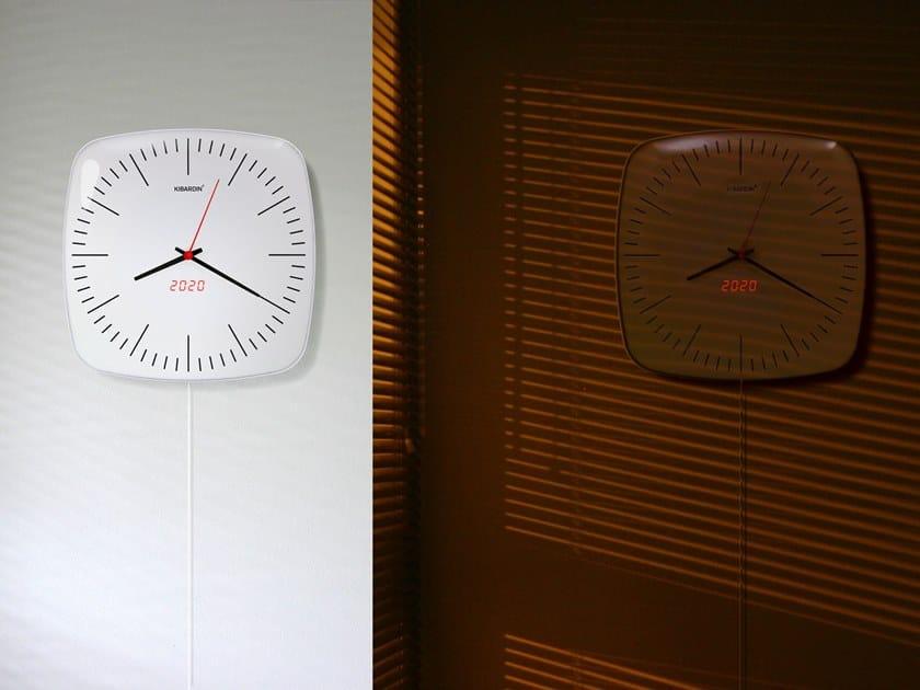 Wall-mounted acrylic glass clock CLASSIC DUET by KIBARDIN