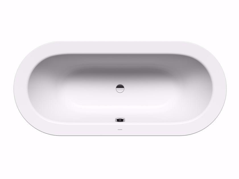 Vasca da bagno centro stanza ovale in acciaio CLASSIC DUO OVAL WIDE CON RIVESTIMENTO by Kaldewei Italia