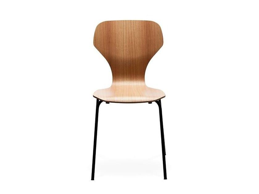 Stackable wood veneer chair CLASSIC by Danerka