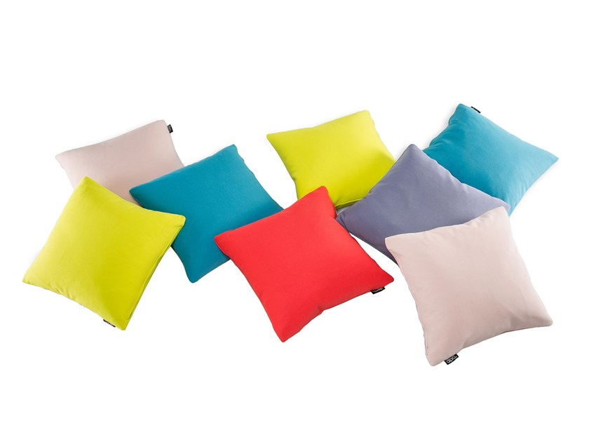 Solid-color polyester cushion with removable cover CLASSIC by Dipro art