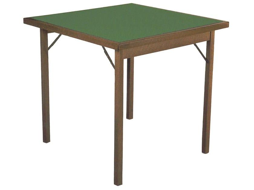 Tavolo Da Poker Legno.Tavolo Da Gioco Quadrato In Legno Classic By Karn