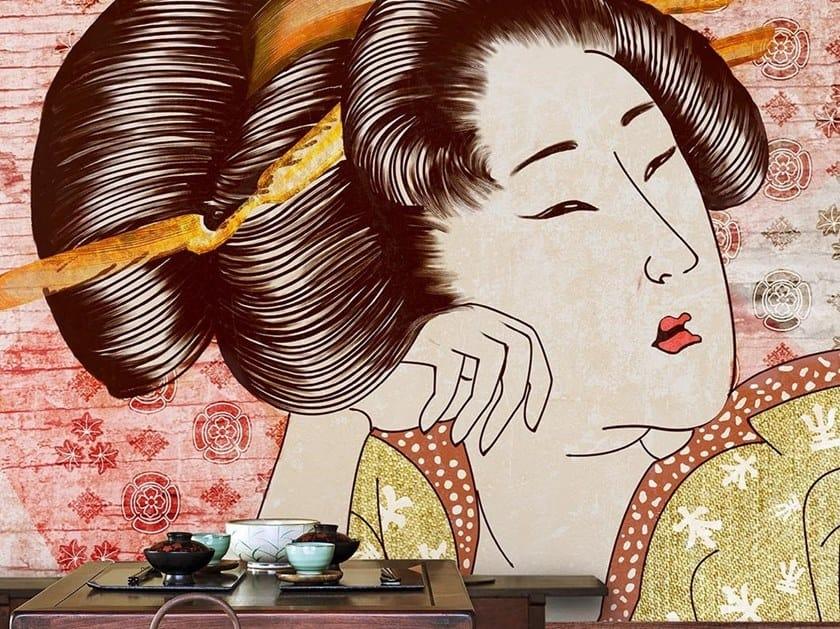 Oriental wallpaper, PVC free, eco, washable CLASSIC GEISHA by Wallpepper