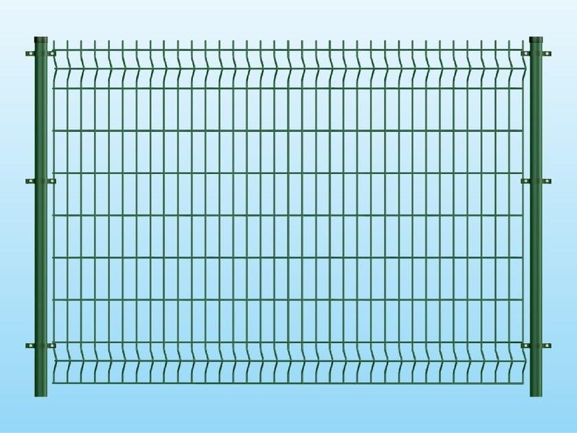 Recinzione modulare in rete elettrosaldata CLASSIC VERDE By Ferro ...