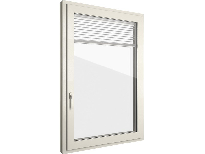 PVC window with built-in blinds FIN-72 Classic-line Twin PVC-PVC by FINSTRAL