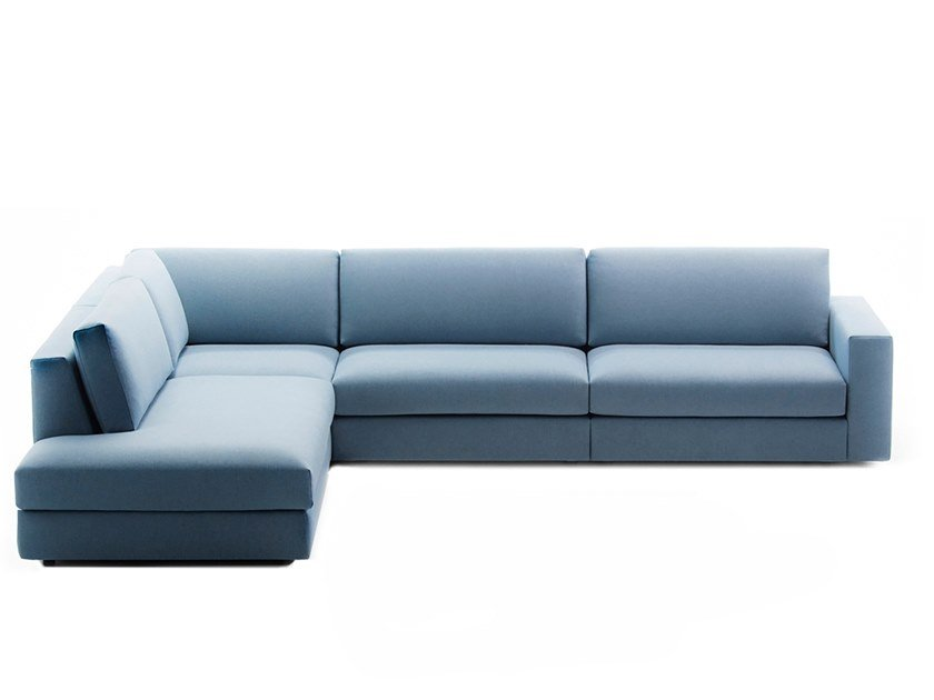 Fabric sofa with chaise longue CLASSIC | Sofa with chaise longue by prostoria