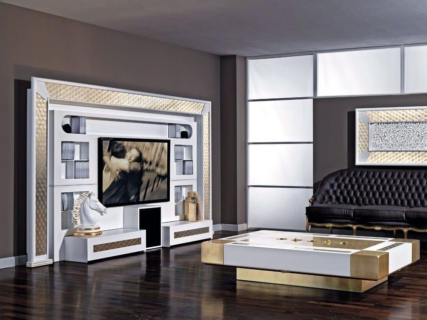 Parete attrezzata laccata con porta tv CLASSIC THE WALL By Vismara ...