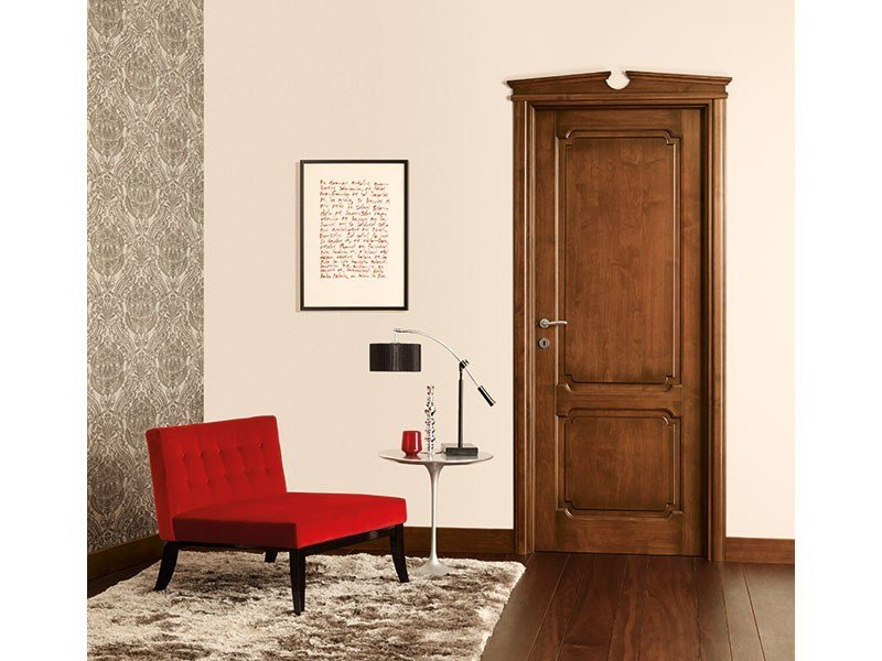 Hinged solid wood door CLASSICI E ANTICATI by LEGNOFORM