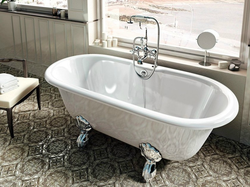 Freestanding oval bathtub on legs CLASSICO by Polo