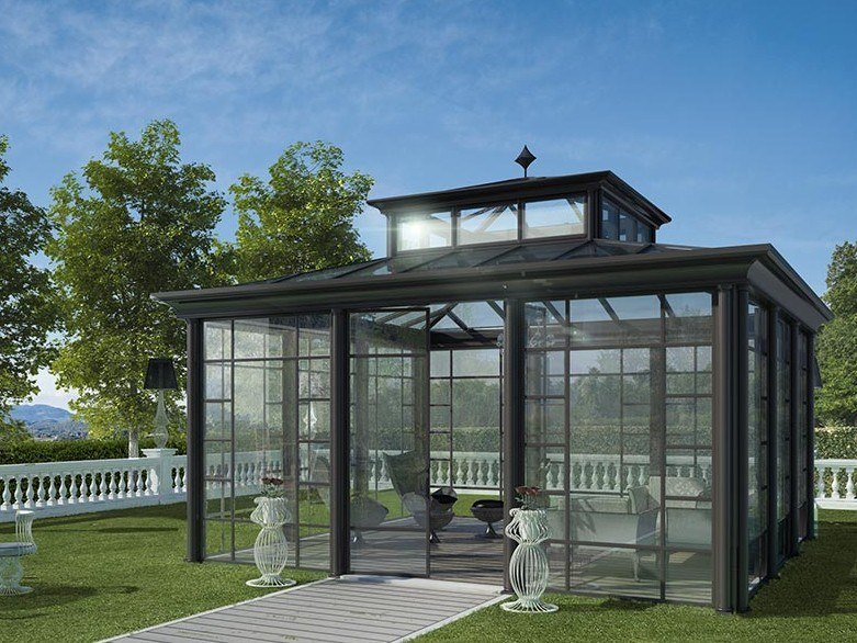 Glass and aluminium Winter garden CLASSICO by Samuele Mazza by DFN