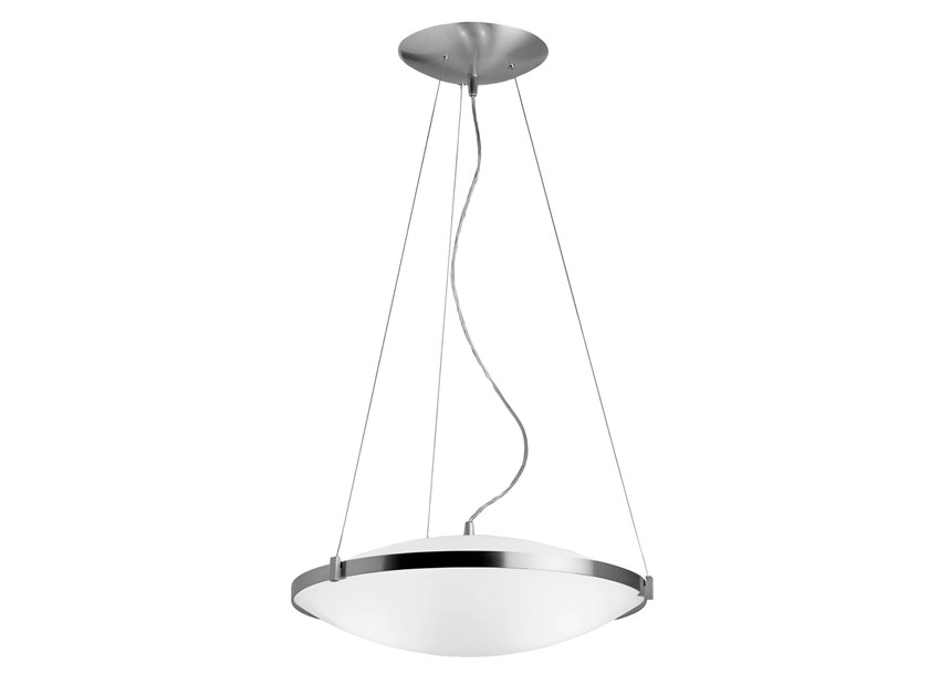 Direct-indirect light pendant lamp CLASSICS | Satin glass pendant lamp by Estiluz