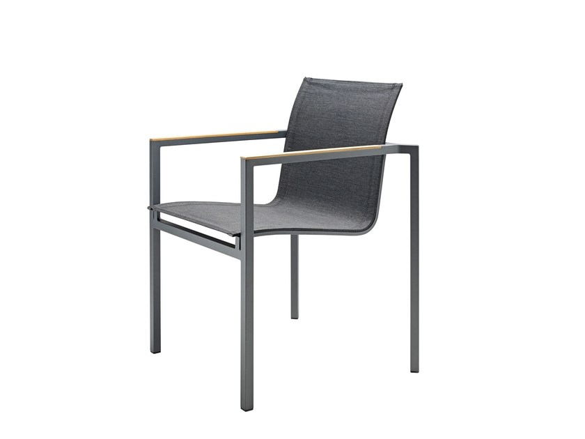 Stackable garden chair with armrests CLAUSS by solpuri