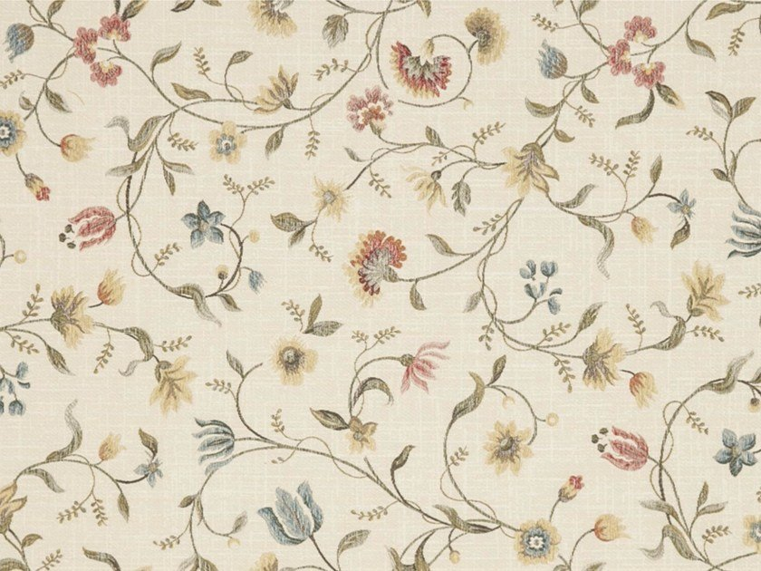 Viscose fabric with floral pattern for curtains CLAVELINA by Gancedo