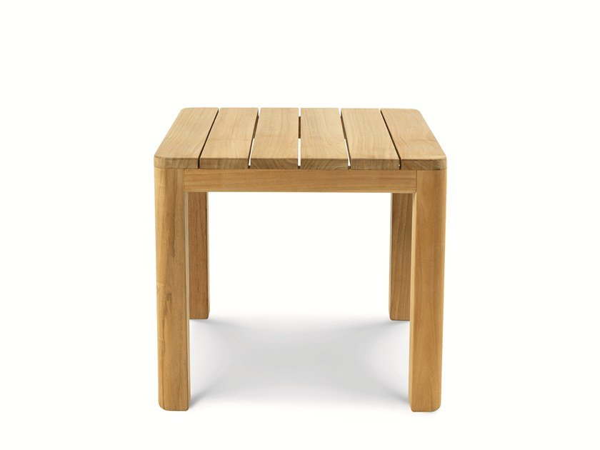 Low teak garden side table CLAY | Coffee table by Ethimo