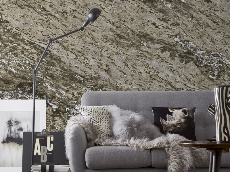 Washable panoramic wallpaper with marble effect CLAY SARRANCOLIN MARBLE | Panoramic wallpaper by Koziel