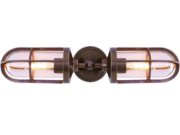Direct light handmade wall lamp CLAYTON DOUBLE WELL GLASS WALL LIGHT by Mullan Lighting