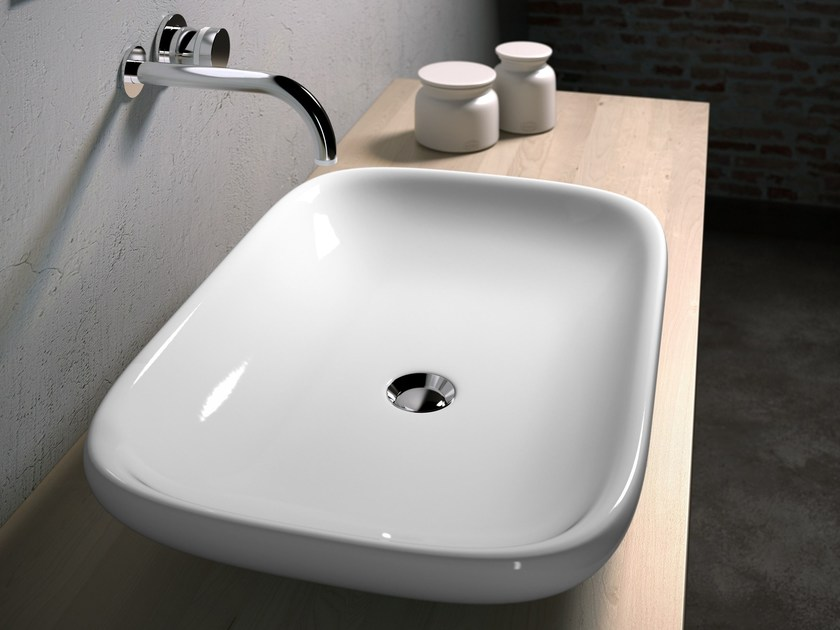 Countertop washbasin CLEAR CLE4266001 by Olympia Ceramica