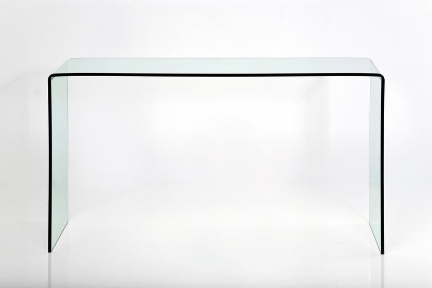 Rectangular glass console table CLEAR CLUB | Console table by KARE-DESIGN