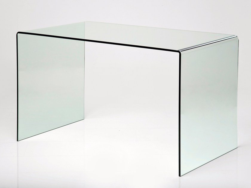 Rectangular crystal writing desk CLEAR CLUB | Writing desk by KARE-DESIGN