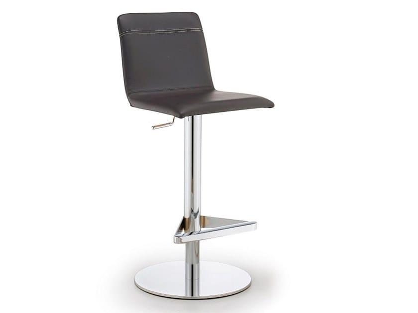 Upholstered height-adjustable stool CLEO   Height-adjustable stool by Natisa