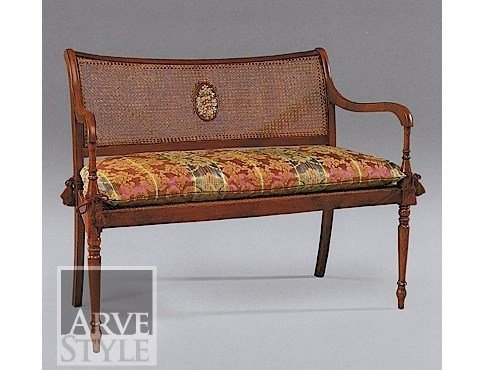 Straw small sofa CLEOPATRA | Small sofa by Arvestyle