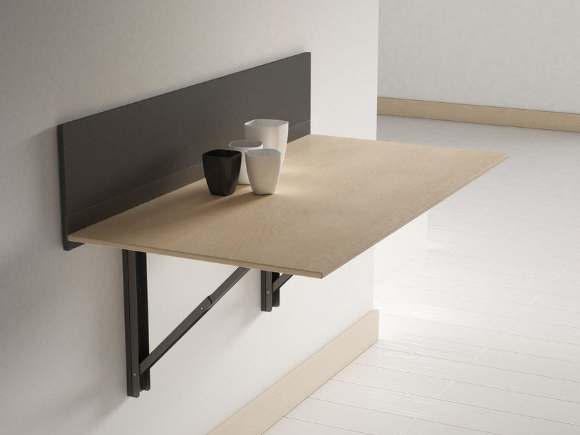 Click wall mounted table by cancio for Table cuisine murale pliable