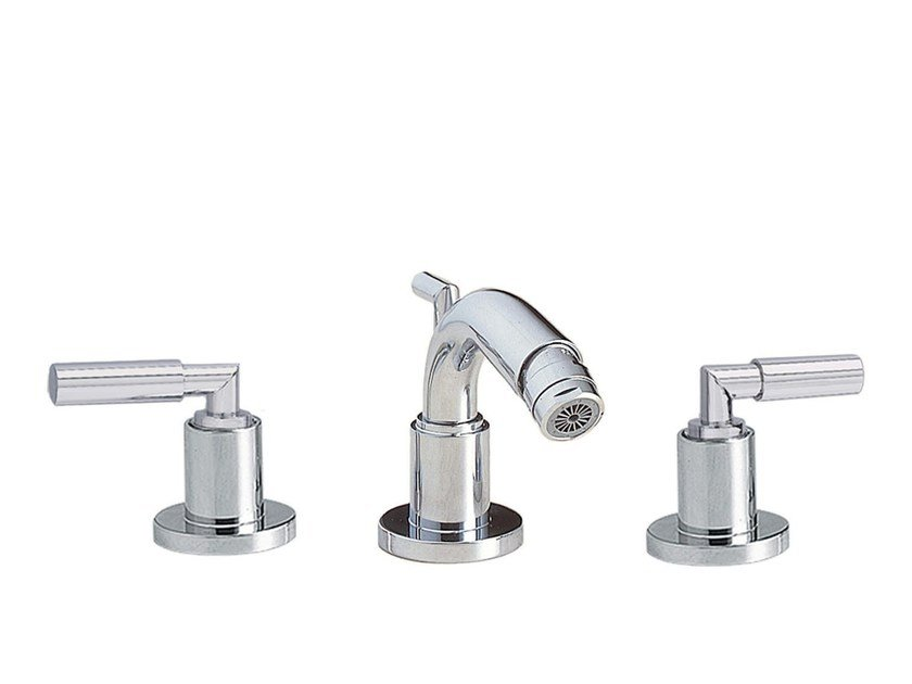 3 hole countertop bidet mixer CLIFF | 3 hole bidet mixer by rvb