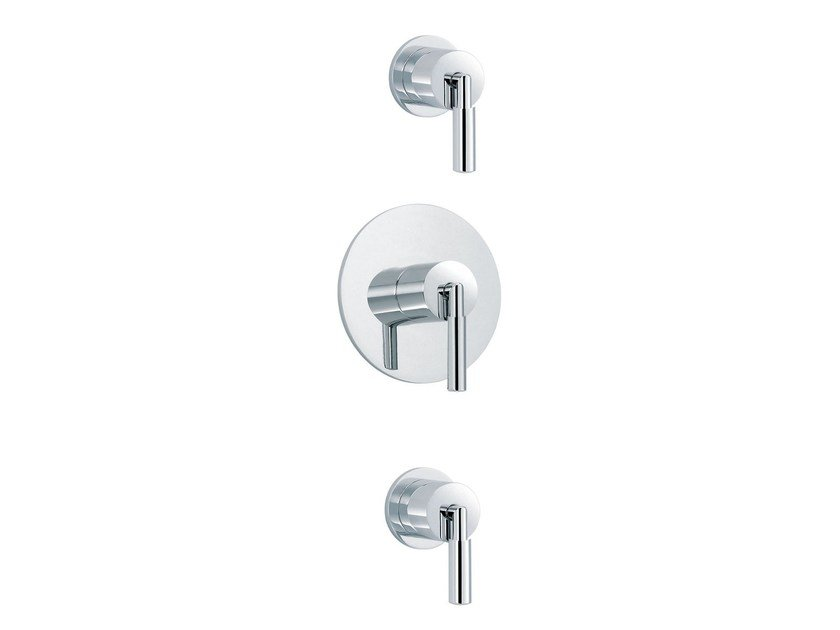 3 hole shower mixer with individual rosettes CLIFF | 3 hole shower mixer by rvb