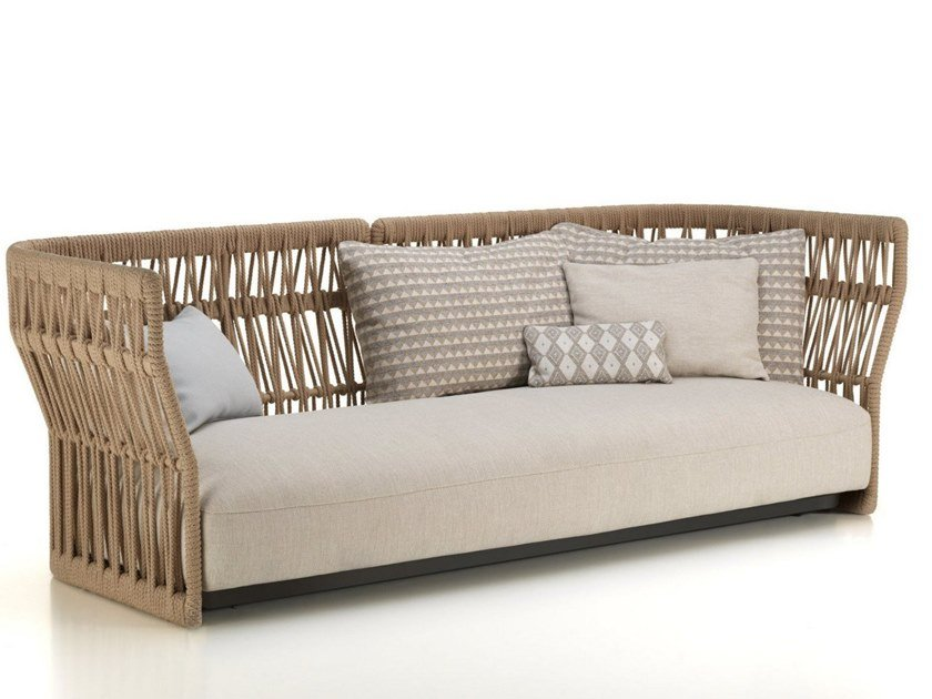 3 seater rope garden sofa CLIFF | 3 seater garden sofa by Talenti