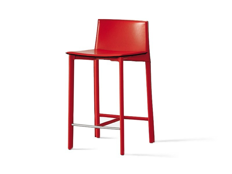 High tanned leather stool CLIFF by Cattelan Italia