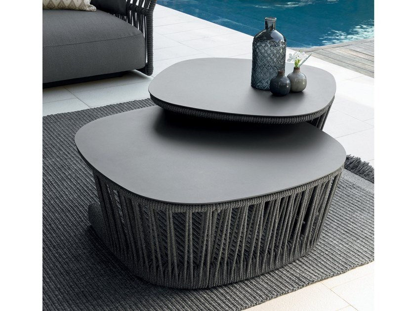 Low square garden side table CLIFF | Coffee table by Talenti