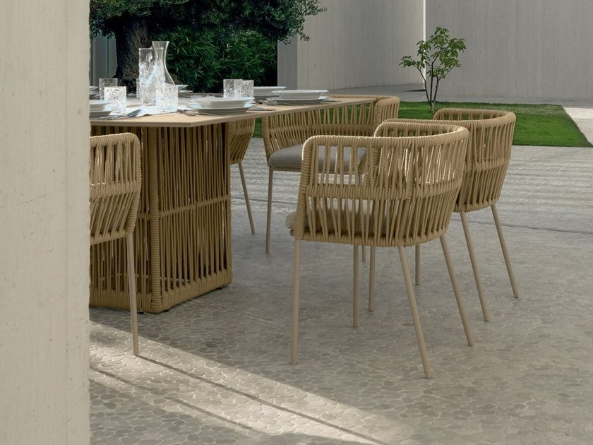 Rope garden chair CLIFF | Garden chair by Talenti