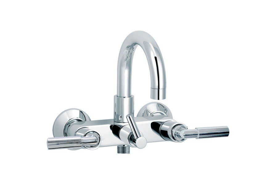 2 hole wall-mounted bathtub mixer CLIFF | Wall-mounted bathtub tap by rvb