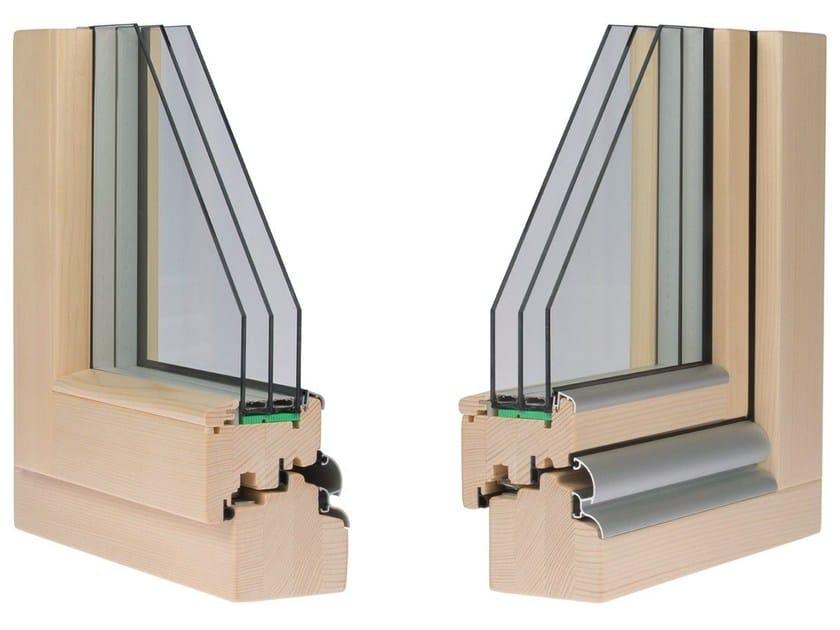 Finestra in legno con triplo vetro clima 92 by alpilegno for Finestre infissi