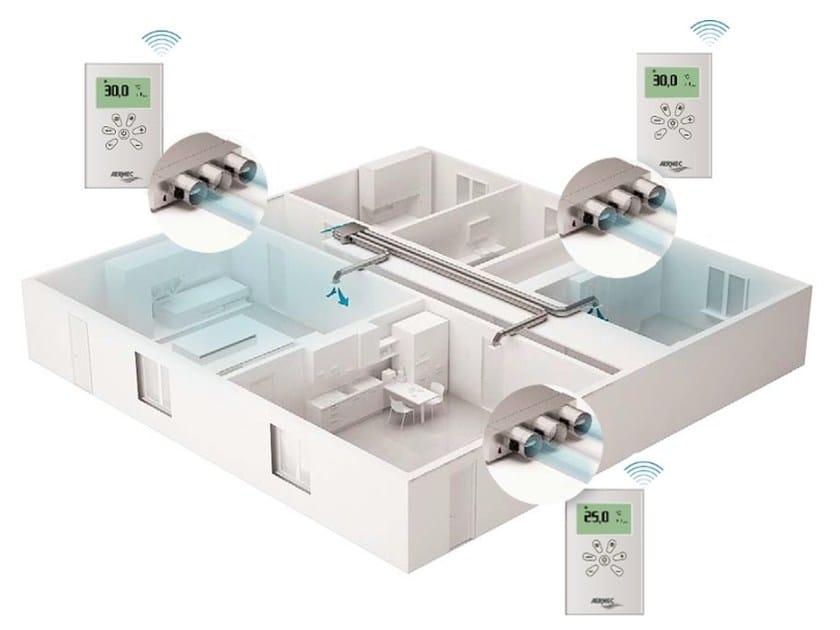Sistema di ventilazione meccanica controllata multizone clima zone by aermec - Ventilazione forzata bagno ...