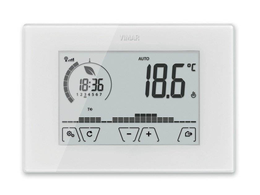 Home automation system for HVAC control CLIMACHRONO by VIMAR